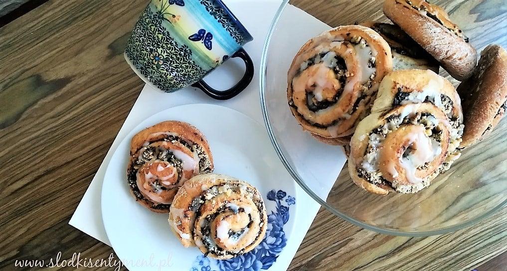 bułeczki z powidłami i orzechami w formie ślimaków