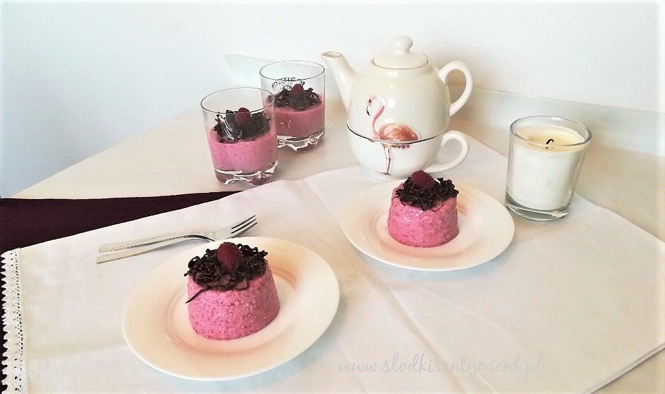 Pudding ryżowo-truskawkowy