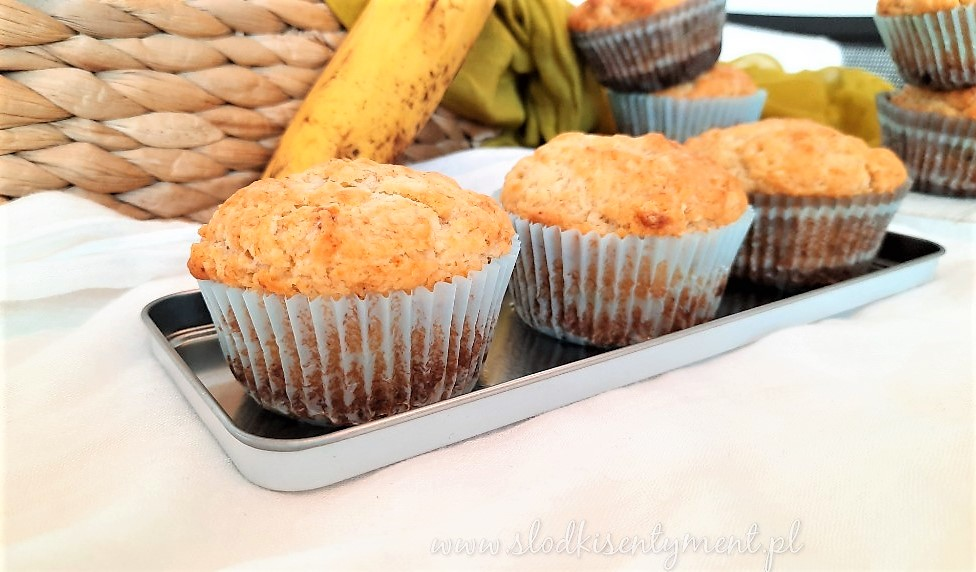 Muffinki bananowe z czekoladą