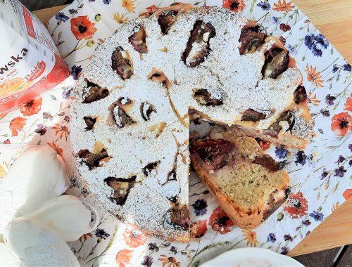 Ciasto śliwkowe z twarożkiem